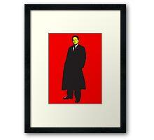 Mulder X Files Framed Print