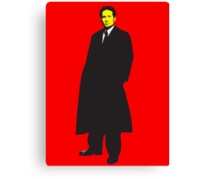 Mulder X Files Canvas Print