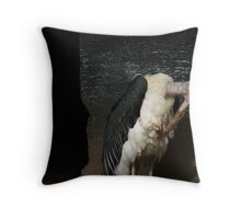 Marabou Stork Nightmares Throw Pillow
