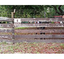 NO Trespassing Photographic Print