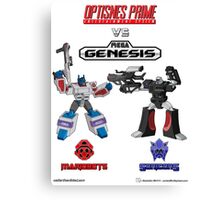 Transformers: Console Wars - OptiSNES vs. MegaGen! Canvas Print
