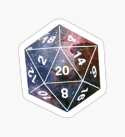 Galactic D20, version 1 Sticker