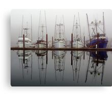Fog Fleet Canvas Print