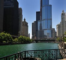 Chicago River by Ted Lansing