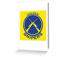 Golden Snipers (Guns) Greeting Card