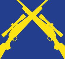 Golden Snipers (Guns) Sticker