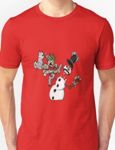 holiday wars: frosty vs the easter bunny! T-Shirt