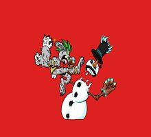 holiday wars: frosty vs the easter bunny! Unisex T-Shirt
