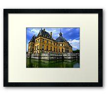 Chateau de Vaux-le-Vicomte, France Framed Print