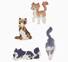Flower Crown Cat Stickers by honeynuggets