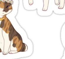 Flower Crown Cat Stickers Sticker