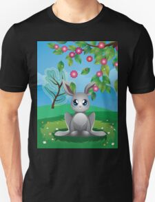 White Rabbit on Lawn Unisex T-Shirt