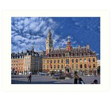 Grand' Place, Lille, France Art Print