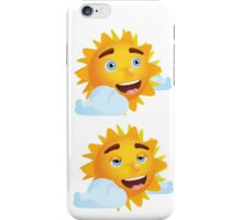 Sun with Different Emotions 2 iPhone Case/Skin