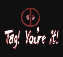 Deadpool Tag T-shirt!   by CheekyEvil
