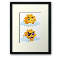 Sun with Different Emotions 3 Framed Print