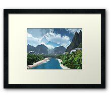 Jungle Stream Framed Print