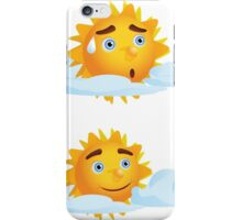 Sun with Different Emotions 4 iPhone Case/Skin