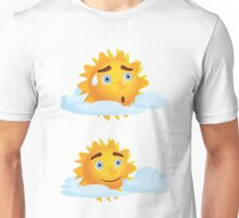 Sun with Different Emotions 4 Unisex T-Shirt