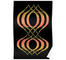 Curvey Floral Abstract  Poster