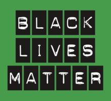 Black Lives Matter (Black Blocks Over White) Baby Tee
