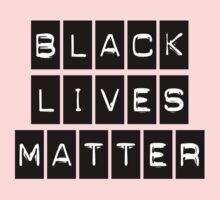 Black Lives Matter (Black Blocks Over White) Kids Tee