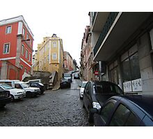 street in old Lisbon Photographic Print