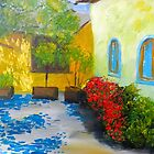 Tuscany Courtyard 2 by PamelaMeredith