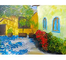 Tuscany Courtyard 2 Photographic Print