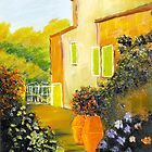 Tuscany Courtyard by PamelaMeredith