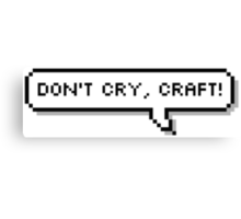 Don't Cry, Craft! Canvas Print