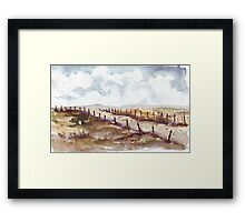 Winter landscape in Autumn Framed Print