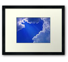 From My Cloud To Yours  Framed Print