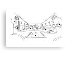 Mystic Pen and ink magic  Canvas Print