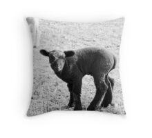 Lamb in B&W Throw Pillow