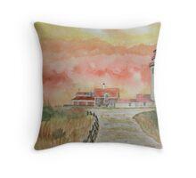 Highland Lighthouse Truro-cape Cod Throw Pillow