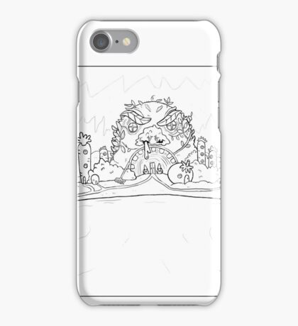 Pen and Ink design, carrot island.  iPhone Case/Skin