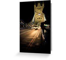 London Bridge lights and traffic Greeting Card