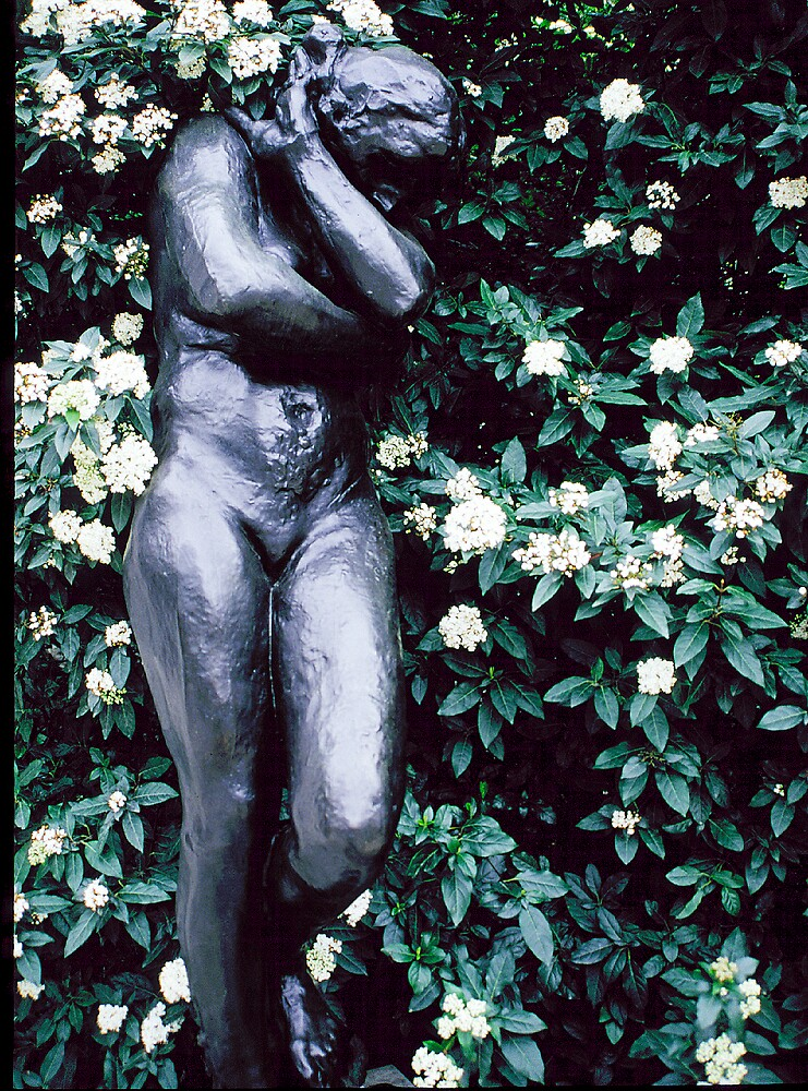 Lady and Flowers, Rodin's Garden, Rodin's House, Paris, France by fauselr