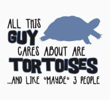 All this guy cares about are tortoises... (Black & Blue) by Iceyuk