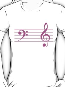 Left Hand  Bass / Right Hand Treble T-Shirt