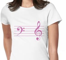 Left Hand  Bass / Right Hand Treble Womens Fitted T-Shirt