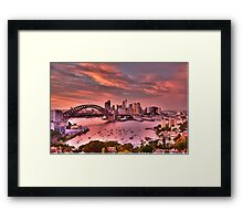 Pink - Moods Of A City - The HDR Experience Framed Print