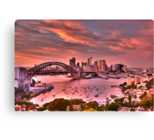 Pink - Moods Of A City - The HDR Experience Canvas Print