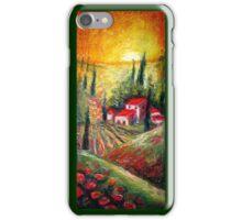 Tuscan Village, Italian Pastel Landcape  iPhone Case/Skin