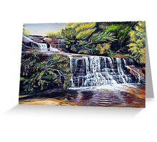 The Cascades, Blue Mountains Greeting Card