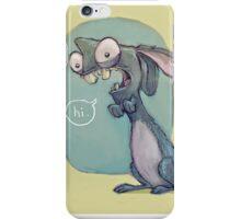 Crazy Bunny, Wild rabbit iPhone Case/Skin