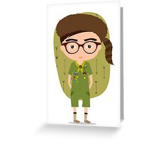 Moonrise Kingdom Sam Shakusky Greeting Card