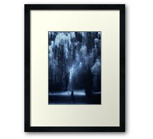 Dancing under the willow Framed Print