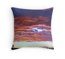 Sunset over Echelon Throw Pillow